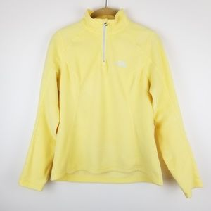 The North Face Yellow Fleece Pullover Jacket